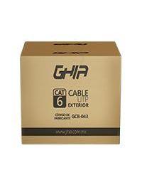 Bobina de Cable UTP GHIA Cat6 CCA 305mts Negro Exterior