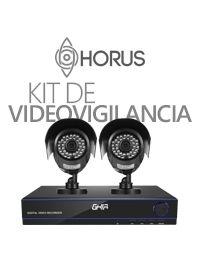 Kit de Video Vigilancia GHIA con DVR de 4 Canalas Incluye DD de 1 TB, Puertos VGA y HDMI, 4 Camras Tipo Bala 720P GDV-007