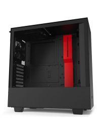 Gabinete Gamer NZXT H510 Compact Media Torre Negro/Rojo Mate