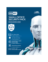 Antivirus ESET Small Office Security Pack, 5 PCs + 5 Smartphones o Tablets + 1 Server + Consola, 1 Ano de Vigencia