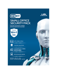 Antivirus ESET Small Office Security Pack, 10 PCs + 5 Smartphones o Tablets + 1 Server + Consola, 1 Ano de Vigencia