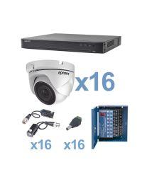 KIT de Video Vigilancia EPCOM 16 Camaras Domo 2MP