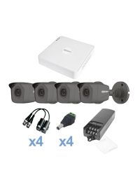 KIT de Video Vigilancia EPCOM 4 Camaras Bala 1MP