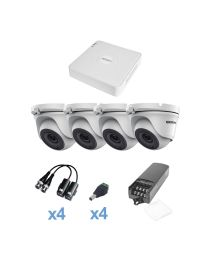 KIT de Video Vigilancia EPCOM 4 Camaras Domo 1MP