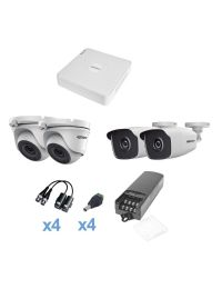 KIT de Video Vigilancia EPCOM 2 Camaras Bala + 2 Domo 1MP