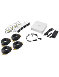 KIT de Video Vigilancia HIKVISION DVR 8 Canales, 4 Camaras Bala 1MP