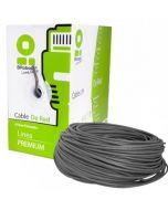 Bobina de Cable BROBOTIX UTP Cat 5E, CCA, 100Mts, Gris