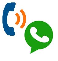 Llamenos o contactenos por WhatsApp