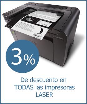 Aprovecha 3% de descuento en Impresoras Laser